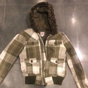 Roxy Green Plaid Winter Jacket